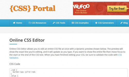 Editing images in css example
