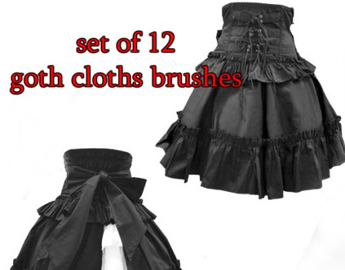 12 Goth Cloths Brushes