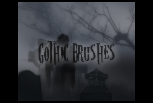 20 Gothic Brushes for Photoshop