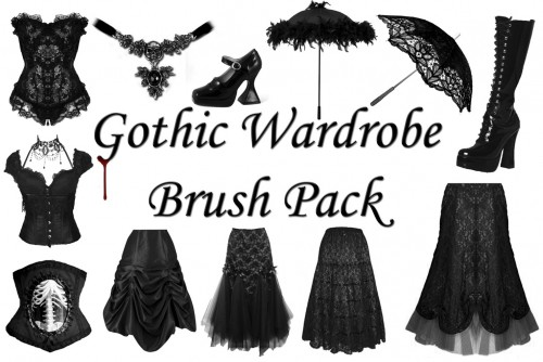 20 Gothic Wardrobe Brush Pack
