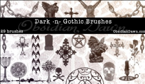 29 Dark -N- Gothic PS Brushes