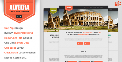 Alveera - Responsive HTML5 Single Page