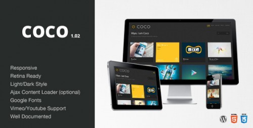Coco - Clean & Minimal Portfolio Theme