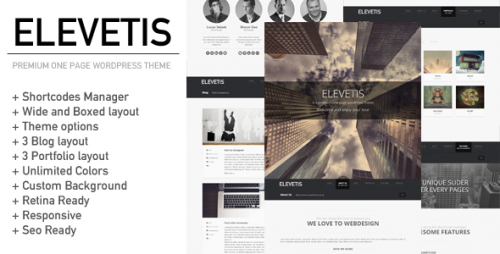 Elevetis - Premium One Page WP Theme