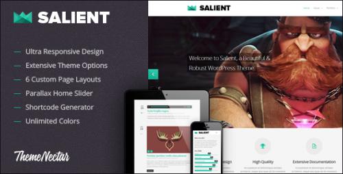 Salient - Responsive Portfolio & Blog Theme