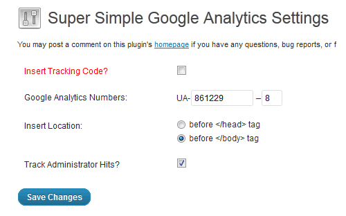 Super Simple Google Analytics