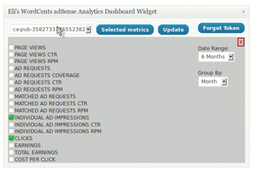 Eli's WordCents adSense Widget with Analytics