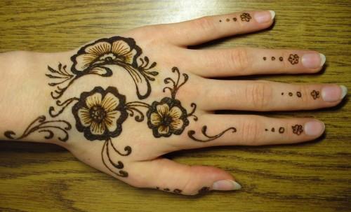 Beautiful Mehndi Tattoos on Hand