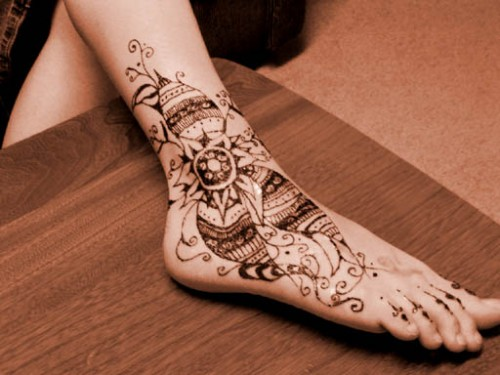 15 remarkable mehndi tattoo designs smashingcloud for Tattoo ideas for foot