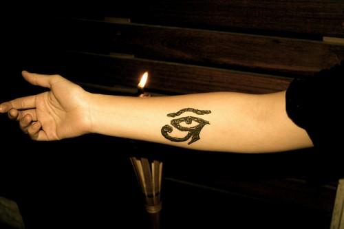 Forearm Mehndi Tattoo