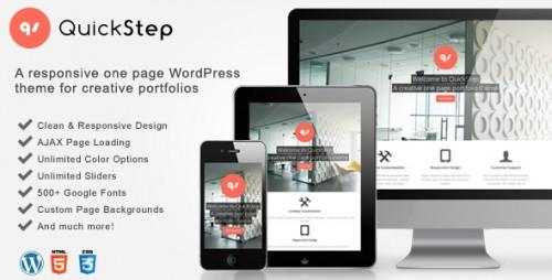 QuickStep - Responsive One Page Portfolio Theme