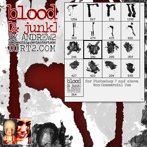 16 Bloody Tears - PS7 Brushes
