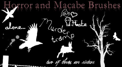 Horror and Macabe Brushes