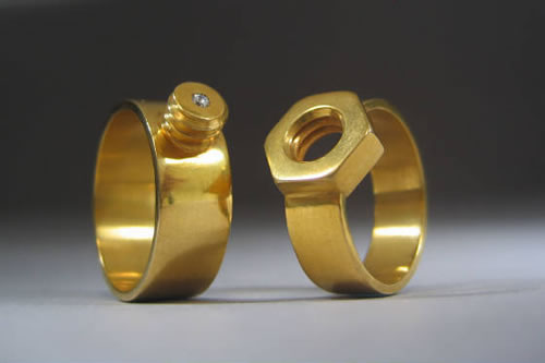 Nut and Bolt Wedding Ring