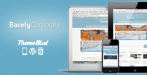 Barely Corporate Responsive WP Theme