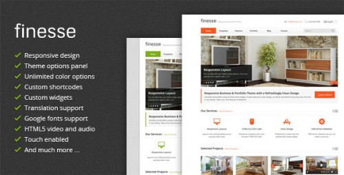 Finesse - Responsive Business WP Theme