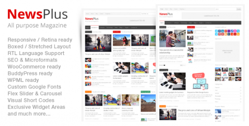 NewsPlus - Magazine, Editorial WordPress Theme