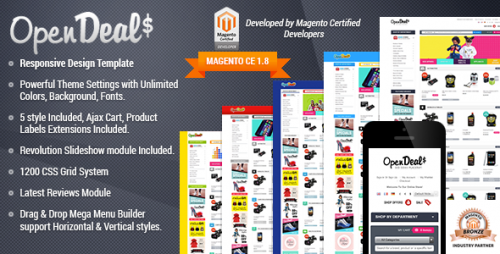 Responsive Magento Theme - Gala OpenDeal