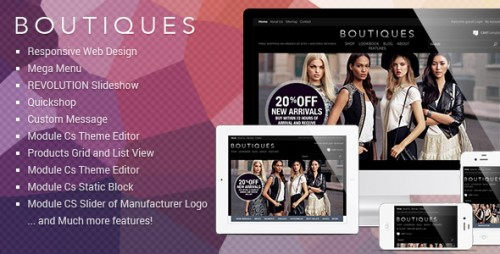 Responsive PrestaShop Template - ET Boutique