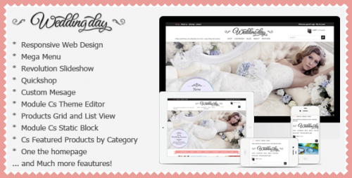 Wedding Responsive Prestashop Theme