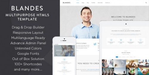 Blandes Multipurpose Responsive WP Theme