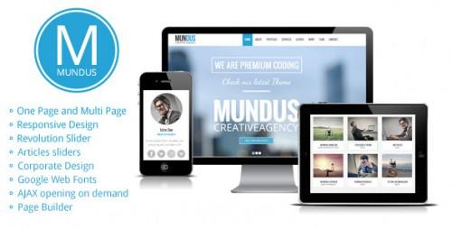Mundus - Business One Page WordPress Theme