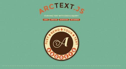 Arctext.js