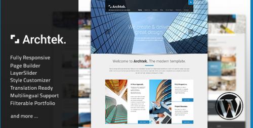 Archtek - Responsive Modern WordPress Theme