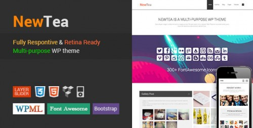 NewTea - Responsive Retina Minimal WP Theme