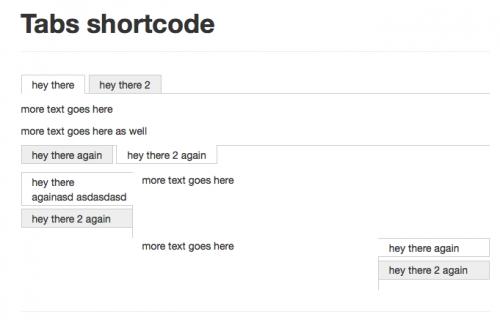 Tabs Shortcode