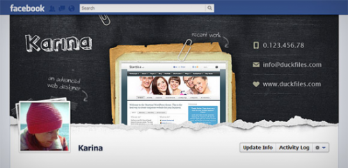 Facebook Timeline Cover PSD