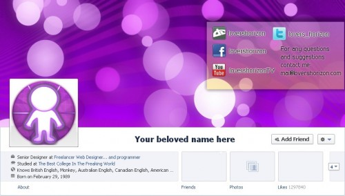 Facebook Timeline Cover PSD Template