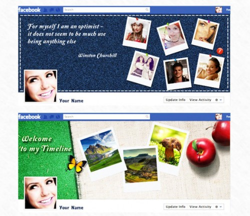 Facebook Timeline Covers - Free PSD