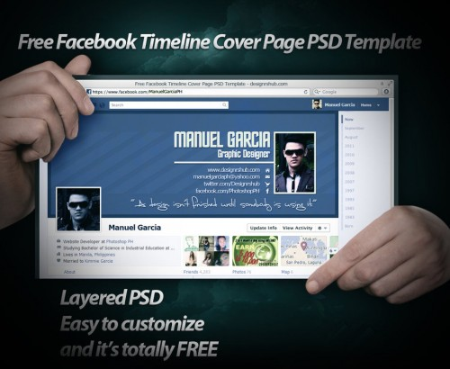 19 splendorous facebook timeline covers psd templates smashingcloud