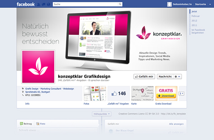 Splendorous Facebook Timeline Covers Psd Templates  Smashingcloud