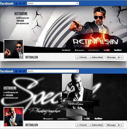PSD Awesome Facebook Timeline Covers