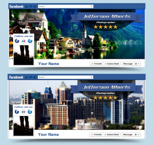Tilt Shift Style Facebook Timeline Cover PSD