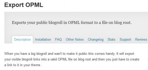 Export OPML