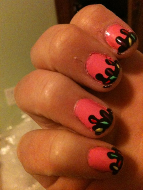 2014 Strawberry Ice Cream Nail Fashion