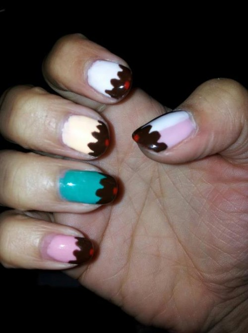 Ice Cream Nails Ideas for Girls