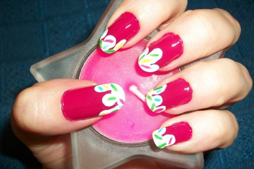 Strawberry Ice Cream Nail Art