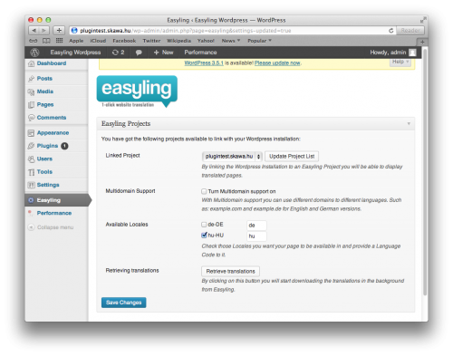 Easyling for WordPress