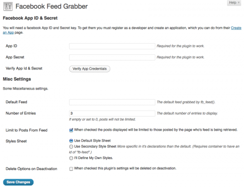 Facebook Feed Grabber