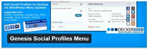 Genesis Social Profiles Menu