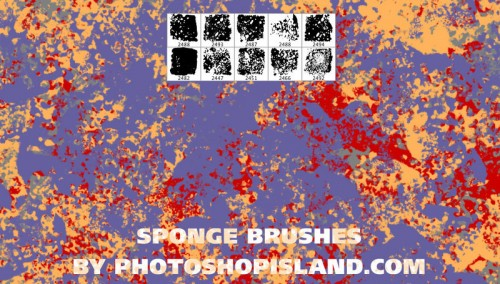 10 Free High Resolution Sponge Brushes