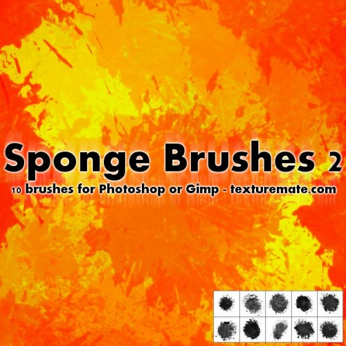 10 Sponge Brushes for Photoshop