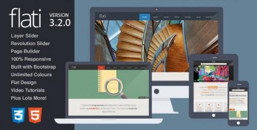 Flati - Responsive Flat Bootstrap WordPress Theme