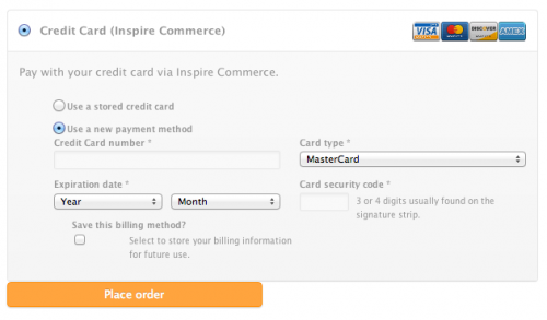 WooCommerce Payment Gateway - Inspire