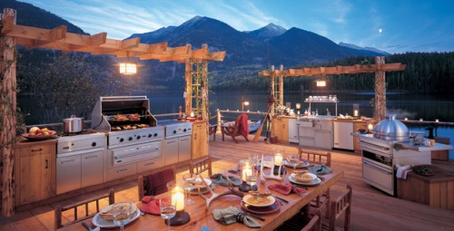 Great Outdoor Kitchen View