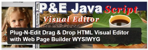 Plug-N-Edit Drag & Drop HTML Visual Editor